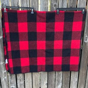 Marlboro Wool Blanket Buffalo Plaid Red Stadium